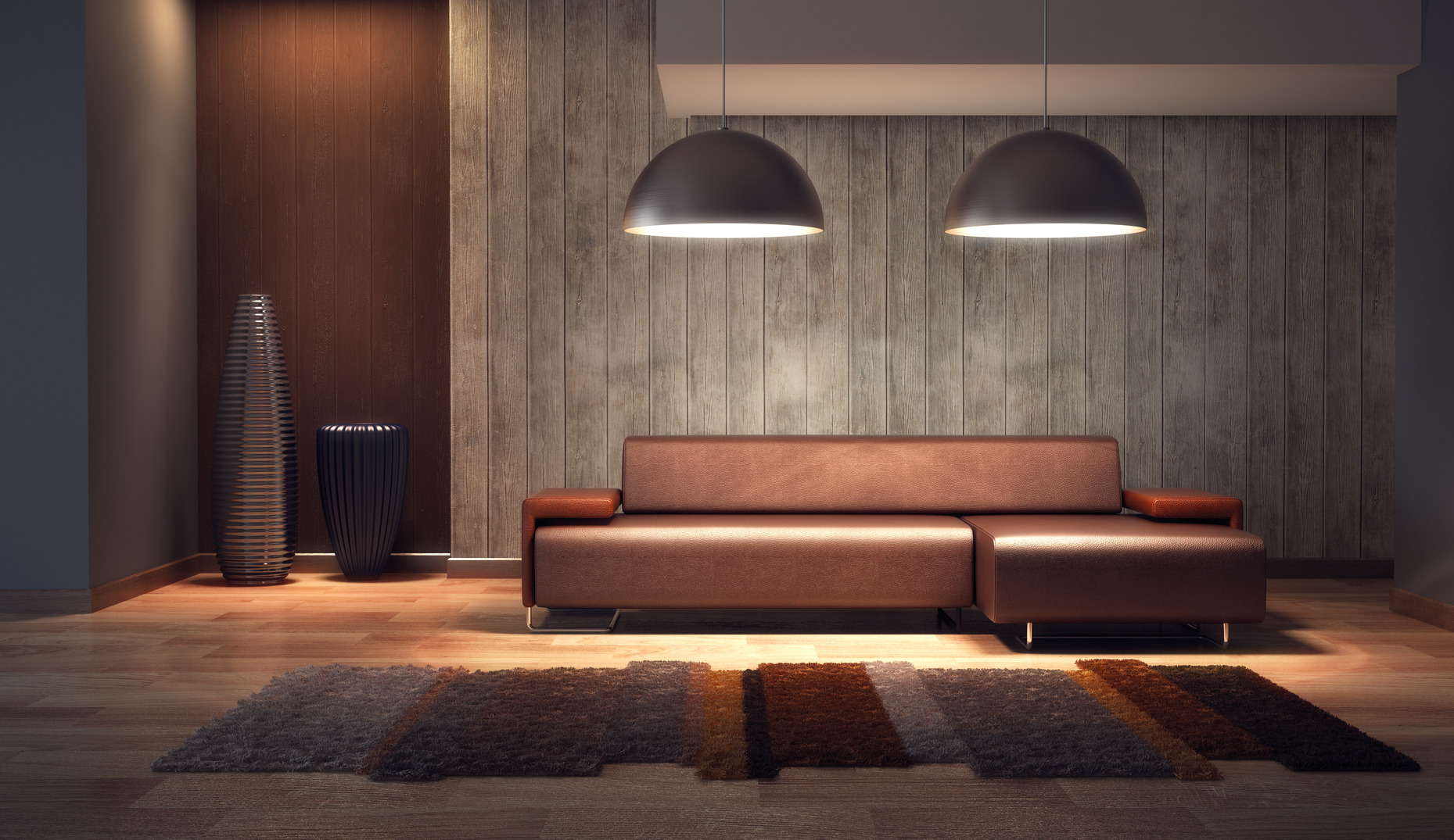 Luxury Lounge Room 3d Render Infinite Big Corp